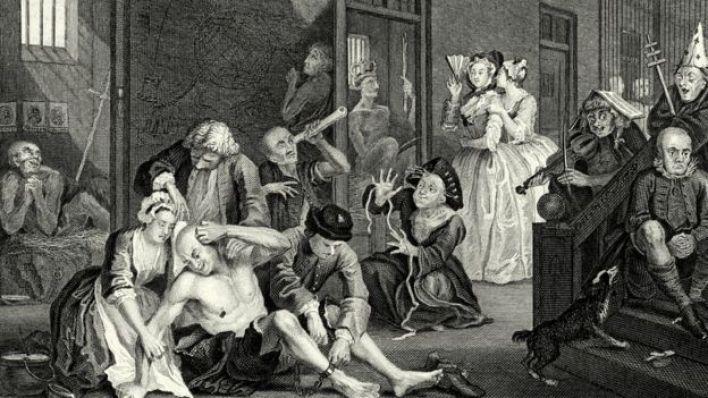 صورة لأشخاص مصابين بالجنون المعنوي