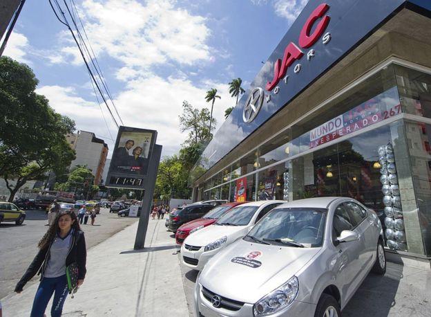 Tienda de JAC Motors en Río de Janeiro.