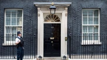 The door to 10 Downing Street