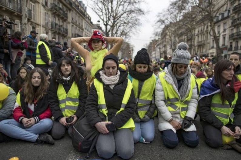 Image result for 9 January Womens Yellow Vests march