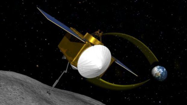 Ilustración de la sonda OSIRIS-REx.