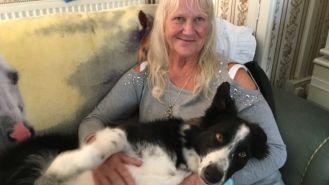 Krissy Abbott, with her dog Jazz