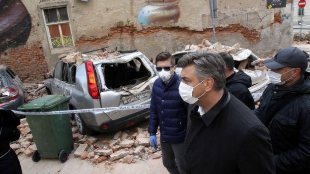 クロアチアのアンドレ・プレコヴィッチ首相が地震による被害を検討