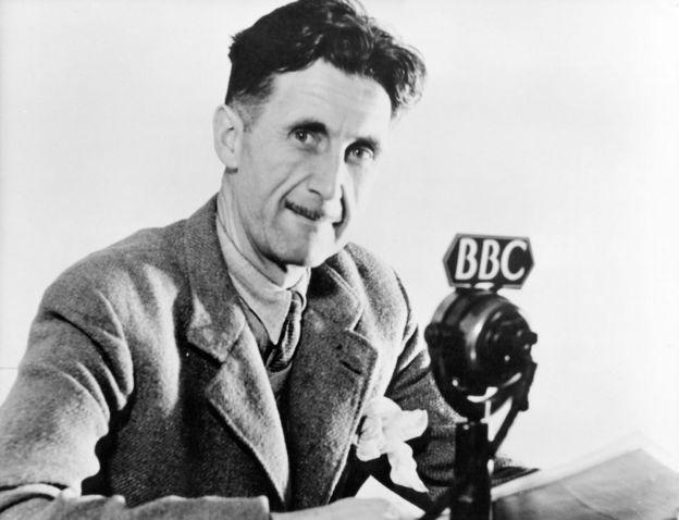 George Orwell trabajando para la BBC