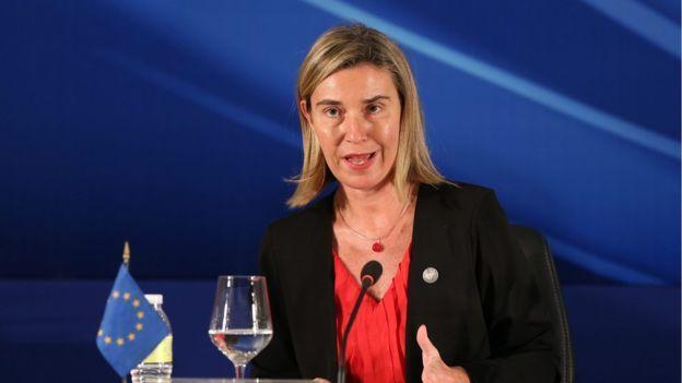 AB Dış İlişkiler ve Güvenlik Politikaları Yüksek Temsilcisi Federica Mogherini