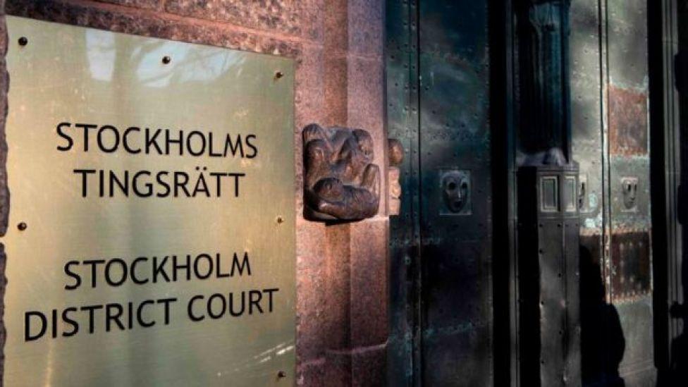 Cartel de la corte del distrito de Estocolmo