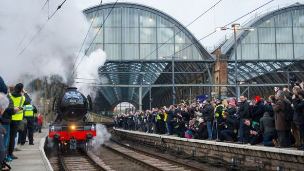 Flying Scotsman leaving King's Cross