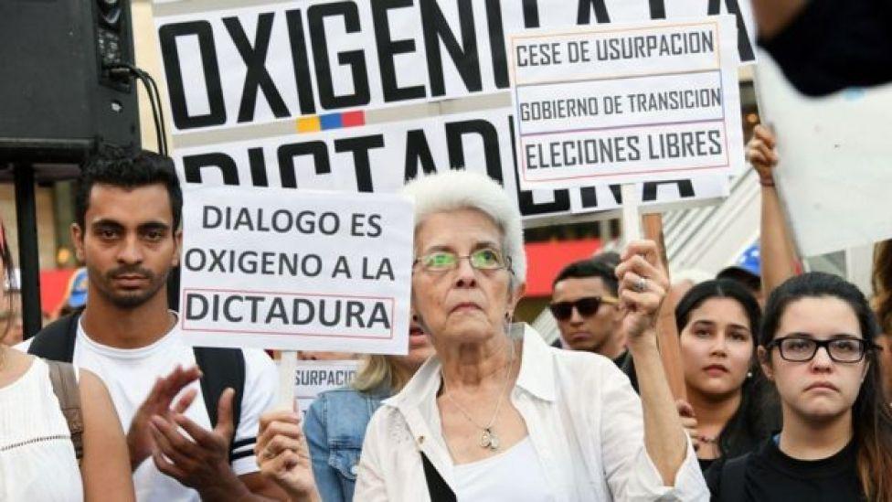 Opositores venezolanos.