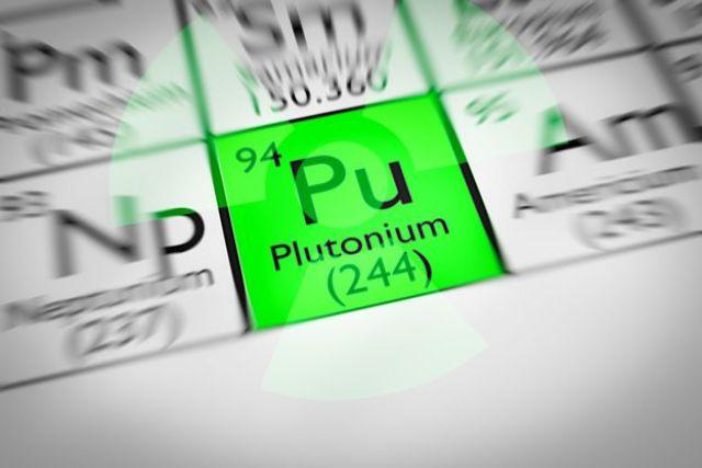 Plutoni en la tabla periódica