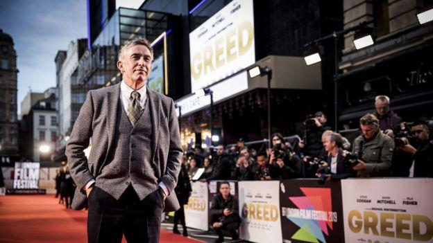 ستيف كوجان في العرض الأول لمهرجان لندن السينمائي للجشع