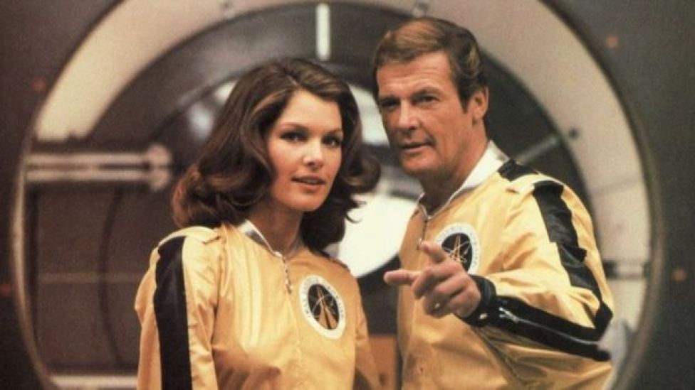 Lois Chiles & Roger Moore in Moonraker