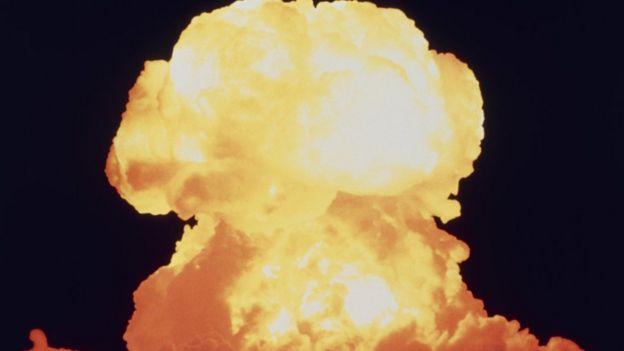 Imagem mostra explosão nuclear