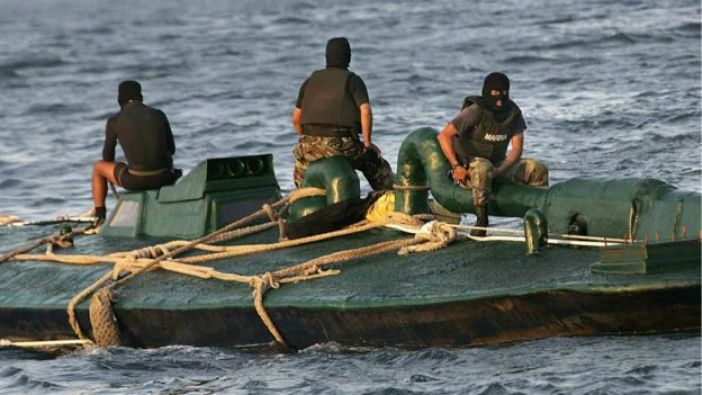Submarino empleado para el traslado de drogas