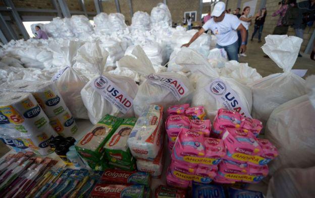 Donaciones de EEUU para Venezuela