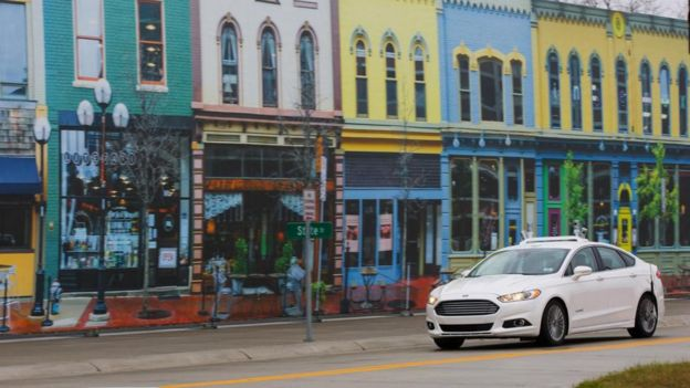 Last year, Ford and the University of Michigan started to test self-driving cars at Mcity, the uni's artificial micro town filled with benches, tunnels, and roundabouts.