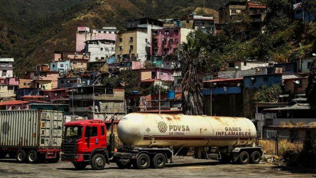Camión de PDVSA.