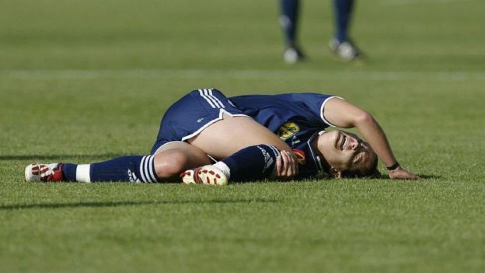 Joueuse japonaise blessée