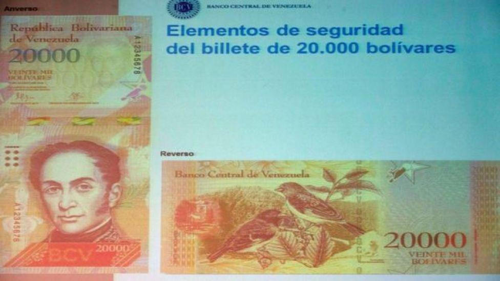 Billete de 20.000 bolívares