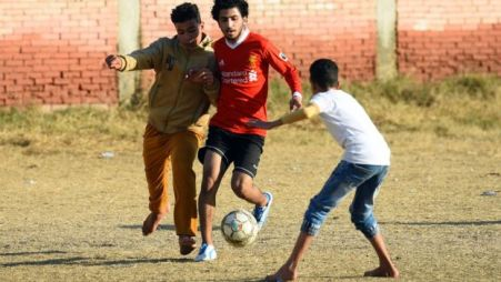 Mo Salah at the Mohamed Salah Youth Center in Nagrig