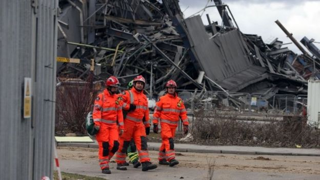 Emergency workers at Didcot power station