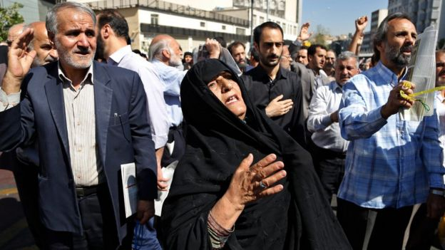 Iranians condemn Saudi Arabia for the deaths of pilgrims performing Hajj during a protest in Tehran
