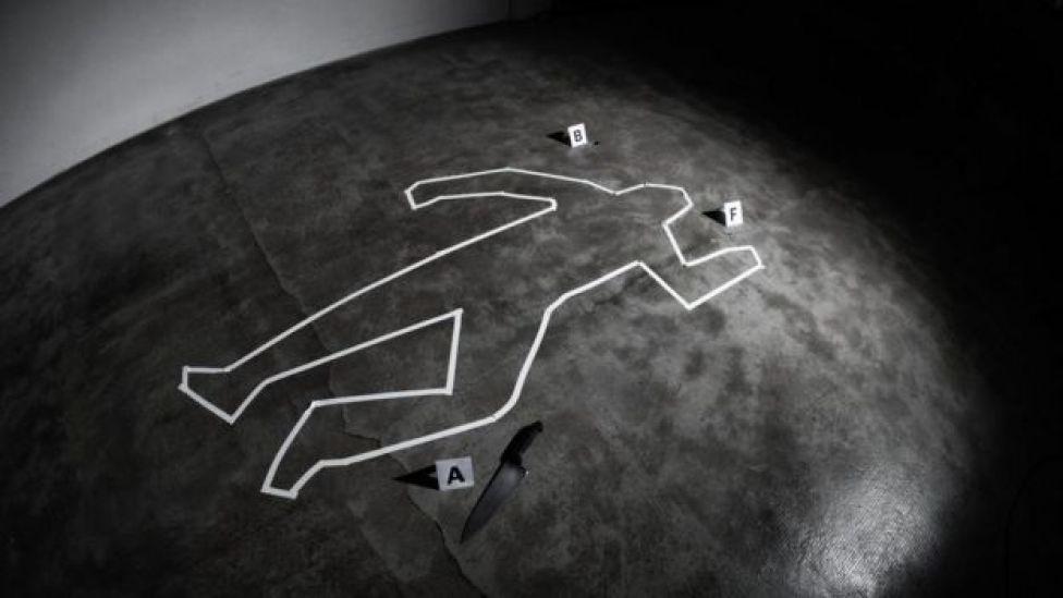 Reprodução da cena de um crime