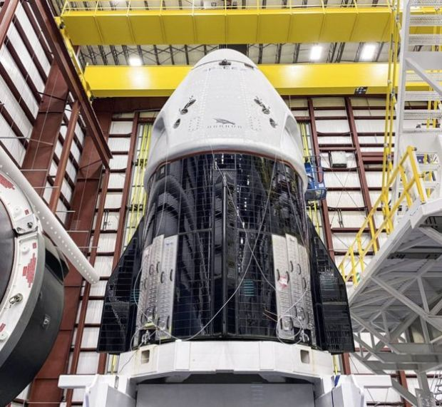 La nave Crew Dragon de SpaceX