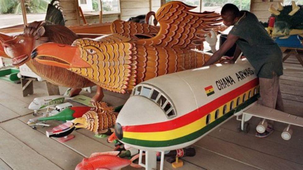 Ataúdes en Ghana.