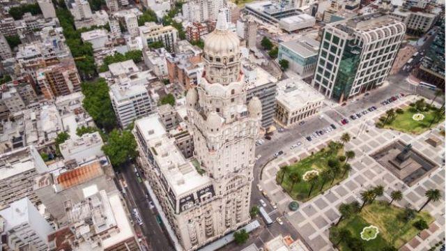 Foto aérea Montevideo.