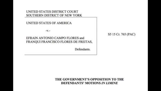 El documento del juicio contra Campo Flores y Flores de Freitas