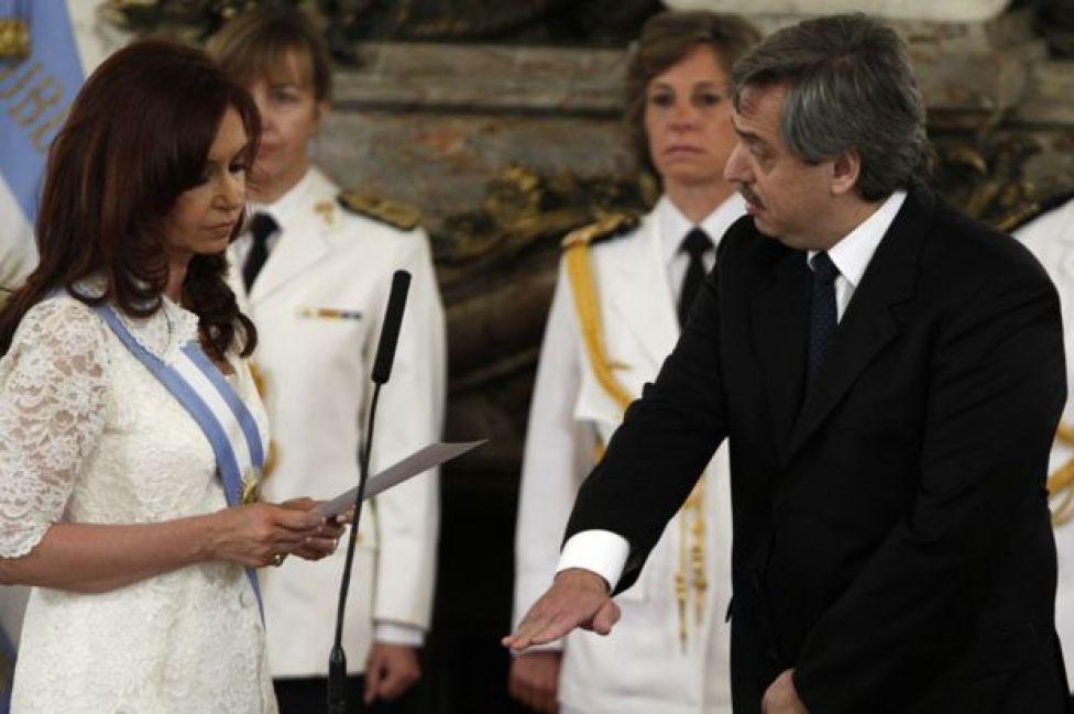Alberto Fernández jura como jefe de Gabinete de Cristina Fernández de Kirchner