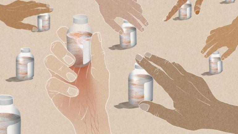 Ilustración de frascos de medicinas.