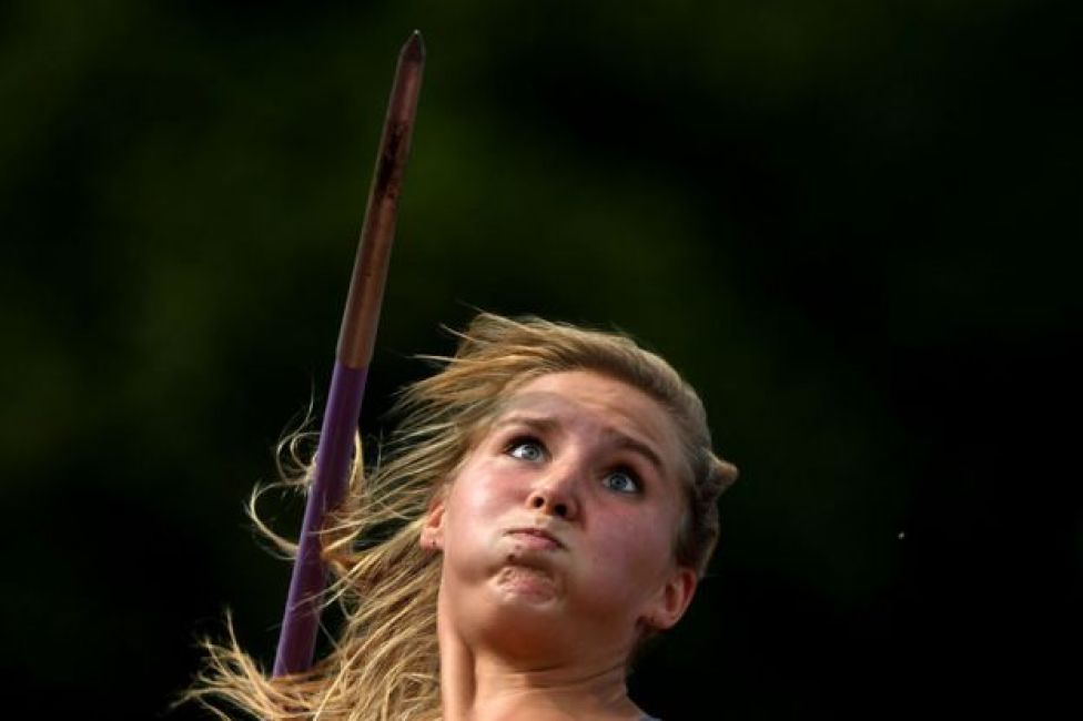 Russia's Svetlana Pechnikova competing in Moscow on 28 July