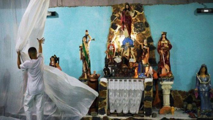 Templo afrobrasileño de la religión umbanda en Río de Janeiro.