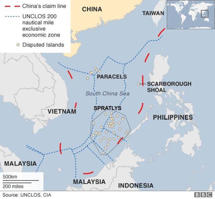 South China Sea dispute: China lands bombers on island - BBC News