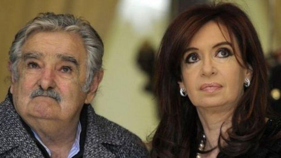 José Mujica y Cristina Fernández de Kirchner.