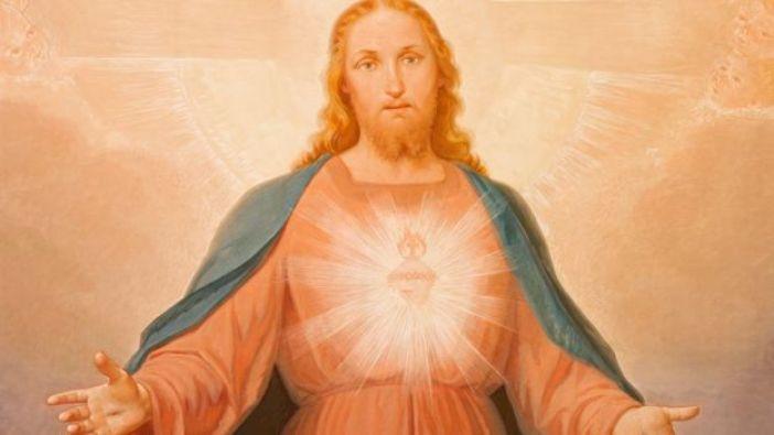 Pintura de Jesús del siglo XIX en Turín.