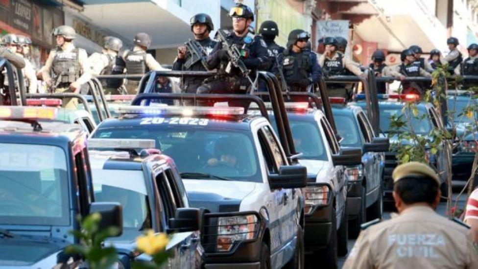 Patrullas con policías y militares en Veracruz