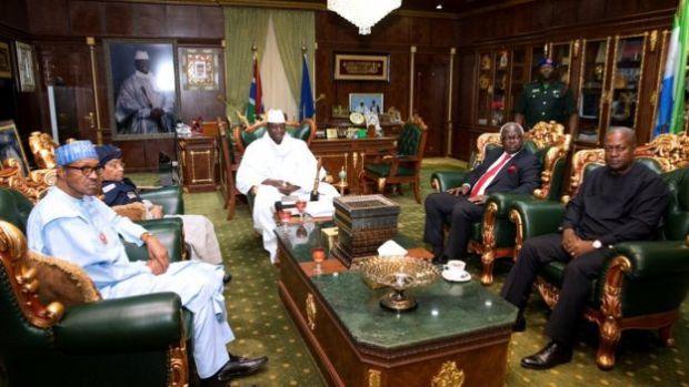 Ecowas leaders visit