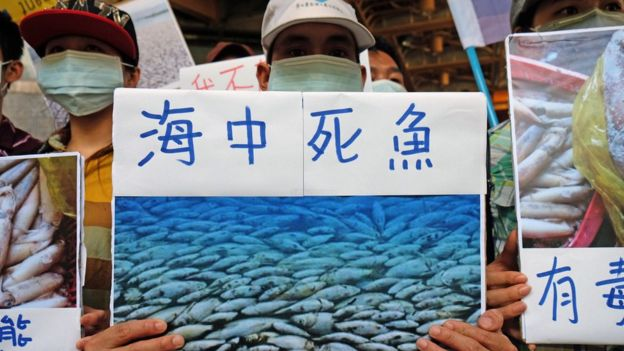A Vietnamese protest against Formosa in Taiwan
