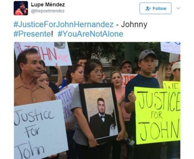 Protesto por John Hernández
