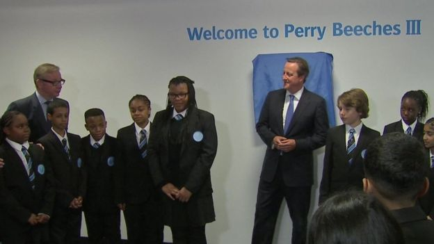 Gove and Cameron at Perry Beeches