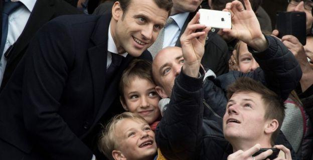 Emmanuel Macron in Le Touquet