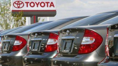 Toyota cars in a car yard
