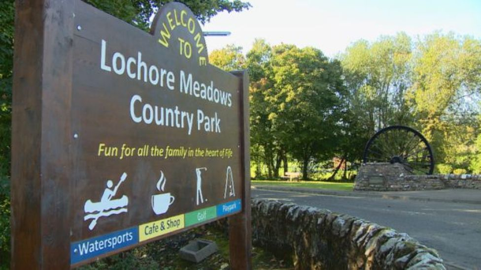 Lochore Meadows country park in Fife