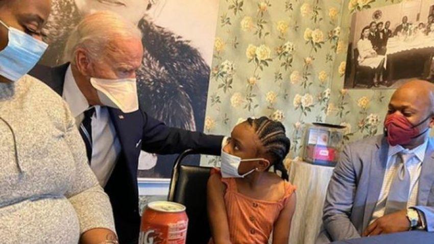 Joe Biden meets George Floyd's family