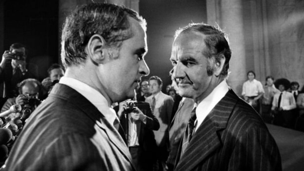 Thomas Eagleton y George McGovern en 1972