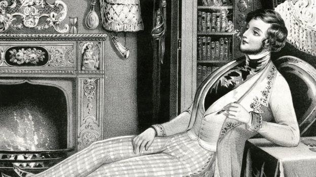 Ilustración de un hombre en el siglo XVIII