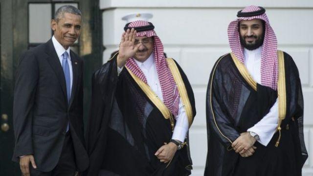 Barack Obama y el príncipe heredero de Arabia Saudita, Mohammed bin Nayef.