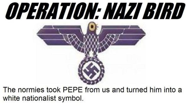 Imagen de Trash Dove usada como símbolo nazi